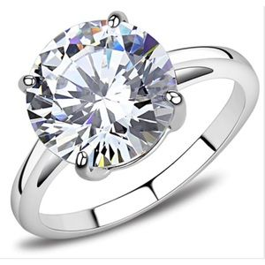 STAINLESS STEEL AAA Grade CZ Solitaire Ring